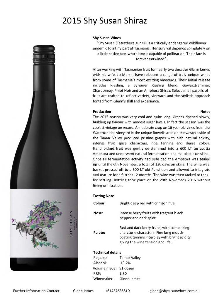 2015 Shiraz Tasting note