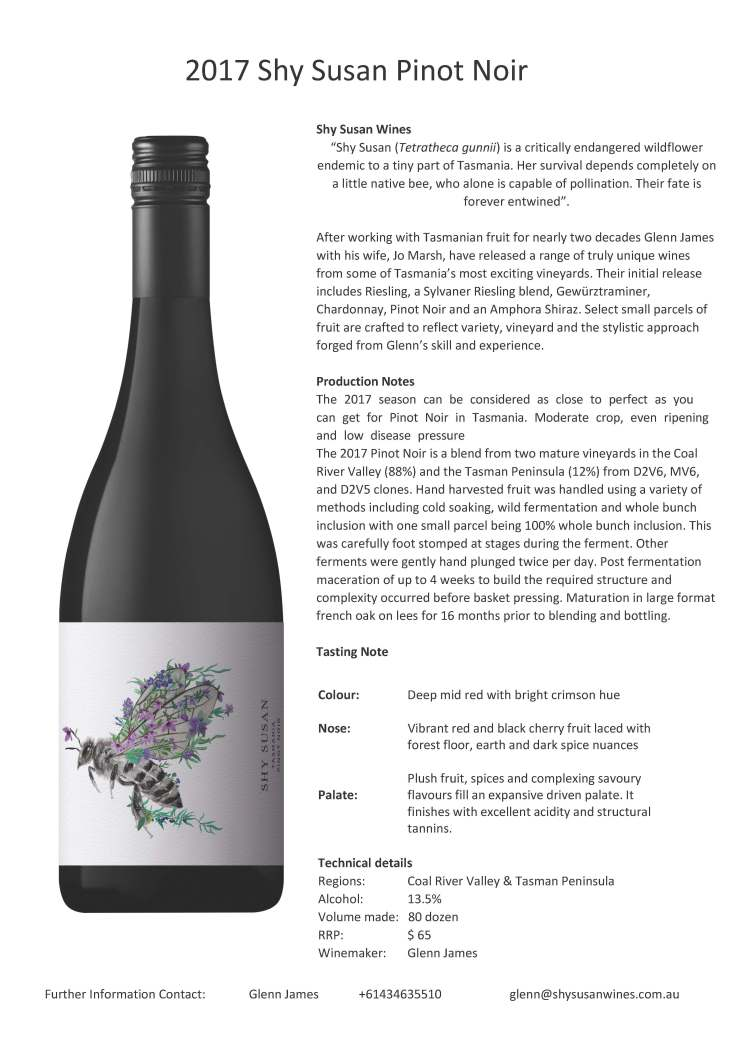 2017 Pinot NoirTasting note